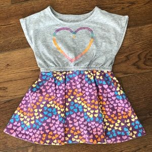 👧2T Kidtopia Adorable Heart Dress 💜